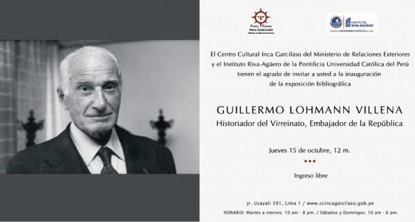 Guillermo Lohmann Villena: Historiador del Virreinato, Embajador de la República