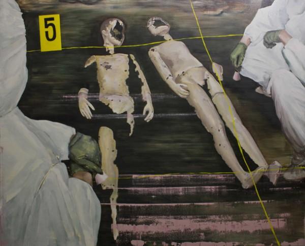 ACCÉSIT. Título: The Evidence. Autora: Marina Iglesias Mateos. Técnica: Óleo sobre lino. Tamaño: 165×205 cm.