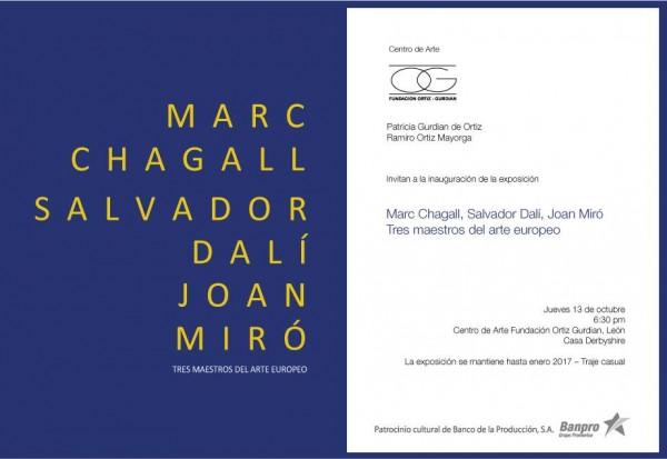 Tres Maestros del Arte Europeo: Marc Chagall, Salvador Dalí y Joan Miró