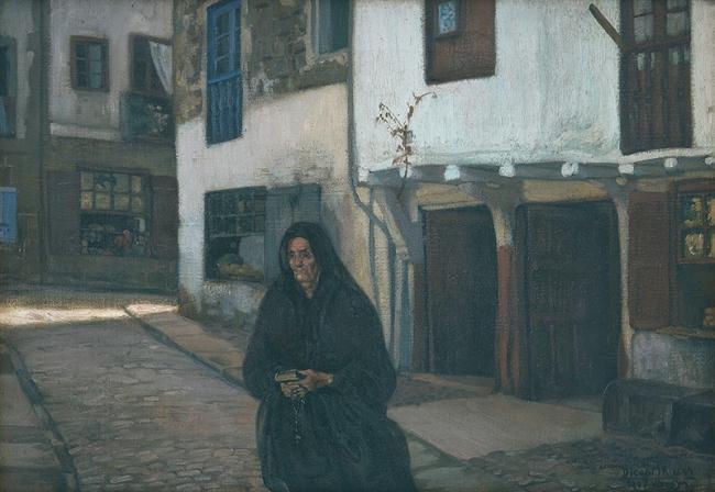 Diego Rivera, Vizcaya, 1907. Óleo sobre tela, 55.5x79.7 cm. Estimado: $10,900,000-15,000,000 MXN. Lote 97 – Cortesía de Morton Subastas