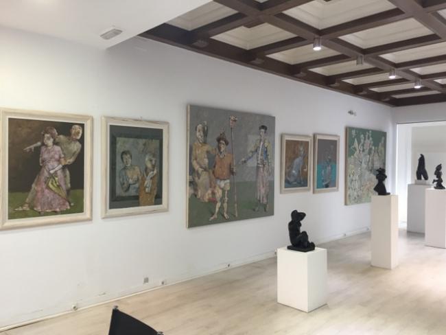 Rafael Romero Masiá. La Figuración (vista de la exposición) – Cortesía de la Galería José Lorenzo
