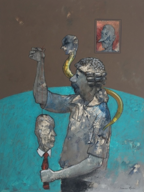 Rafael Romero Masiá – Cortesía de la Galería José Lorenzo | Ir al evento: 'Rafael Romero Masiá. La Figuración'. Exposición en La Marina / A Coruña, España