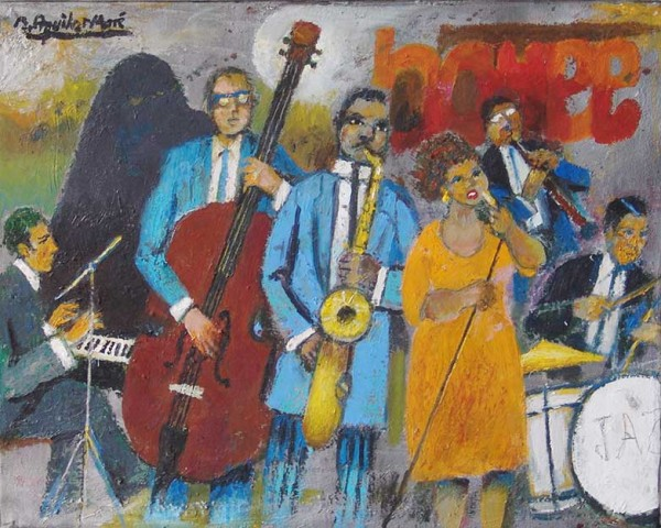 Ramon Aguilar Moré, Jazz, 2005 | Ir al evento: 'Aguilar Moré. 90 aniversari: Mirant enrere - obres des del 1952 al 2014'. Exposición de Pintura en Sala Rusiñol / Sant Cugat del Vallès, Barcelona, España