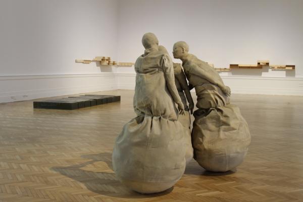Conversation Piece de Juan Muñoz en La Galleria Nazionale. © Alessia Tobia