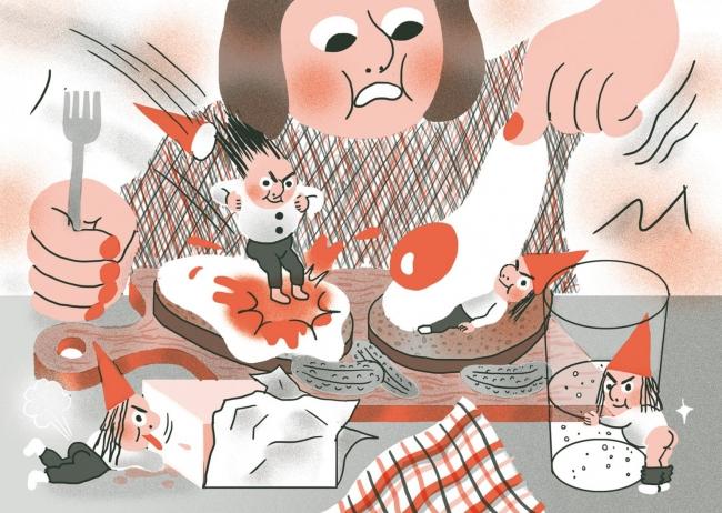 Aisha Franz, Duendes - Cortesía de la Embajada de Alemania en España | Ir al evento: 'Wunderkinder: Aisha Franz y Luis Yang'. Exposición en Panta-Rhei / Madrid, España