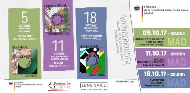 Invitación | Ir al evento: 'Wunderkinder: Aisha Franz y Luis Yang'. Exposición en Panta-Rhei / Madrid, España