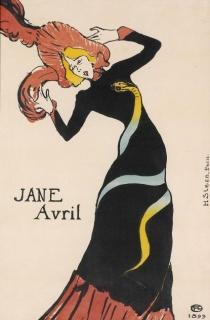 Toulouse-Lautrec. Jane Avril, 1899. Imagen cortesía del Musee d'Ixelles