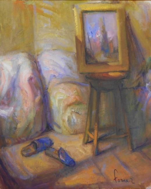 Las zapatillas azules   Ir al evento: 'Exposición Forner'. Exposición de Pintura en Aitana / Borriana/Burriana, Castellón, España