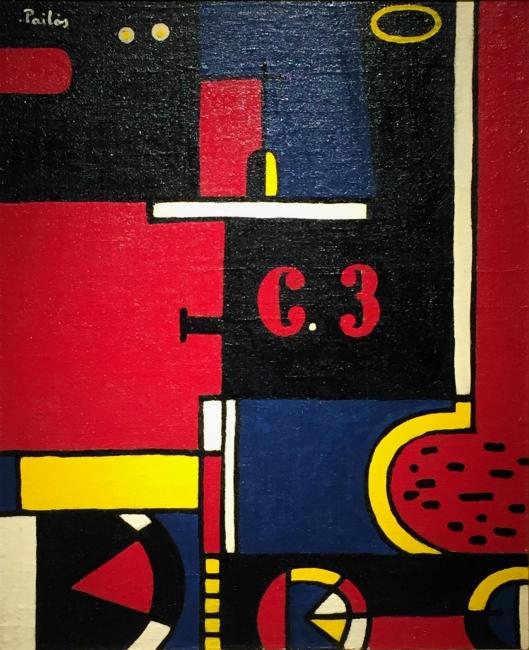 Manuel Pailós. Uruguay, 1918-2004. Máquina, esmalte. 110 x 90 cms. 1989
