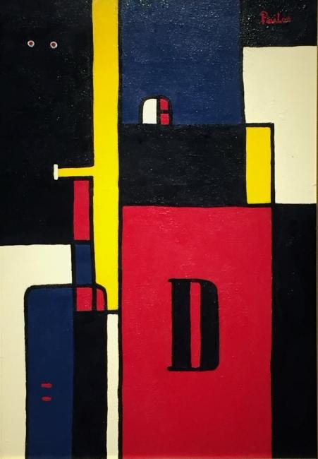 Manuel Pailós. Uruguay, 1918-2004. Máquina, esmalte. 63 x 90 cms. 1978