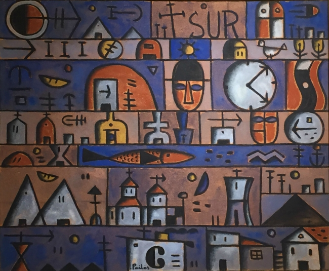 Manuel Pailós. Uruguay, 1918-2004. Sur, seudofresco. 90 x 100 cms. 1985
