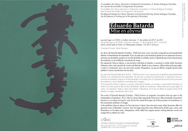 Eduardo Batarda. Mise en abyme