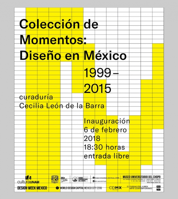 COLECCIÓN DE MOMENTOS: DISEÑO EN MÉXICO 1999-2015. Imagen cortesía Museo Universitario del Chopo