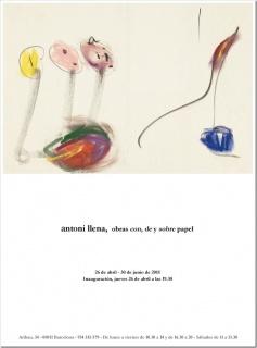 Antoni Llena, obras con, de y sobre papel