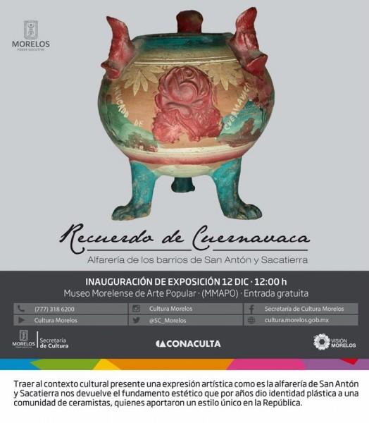 Recuerdo de Cuernava: Alfarería de los bariios de San Antón y Sacatierra