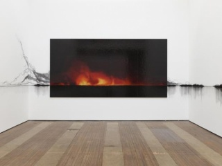 Teresita Fernández, Fire (America). Installation view, Lehmann Maupin, New York. Photo: Elisabeth Bernstein. Courtesy the artist and Lehmann Maupin, New York and Hong Kong