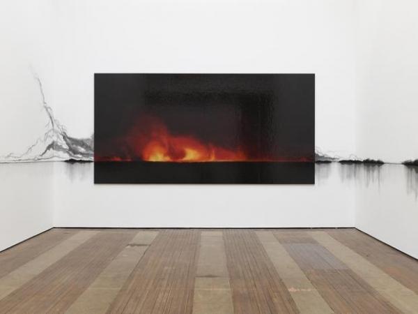 Teresita Fernández, Fire (America). Installation view, Lehmann Maupin, New York. Photo: Elisabeth Bernstein. Courtesy the artist and Lehmann Maupin, New York and Hong Kong
