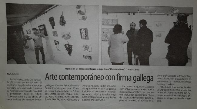 Vigo 4 Costados | Ir al evento: '13 = miscelánea'. Exposición de Escultura, Fotografía, Pintura en Soho de Vigo / Vigo, Pontevedra, España