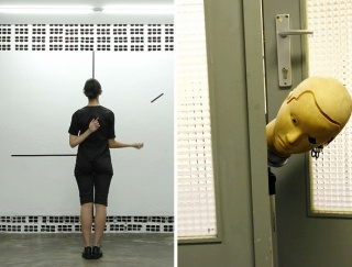 Left: Maria Noujaim, Twist, 2017. Performance. Right: Geumhyung Jeong, Record Stop Play (video still), 2011. Imagen cortesía art-agenda