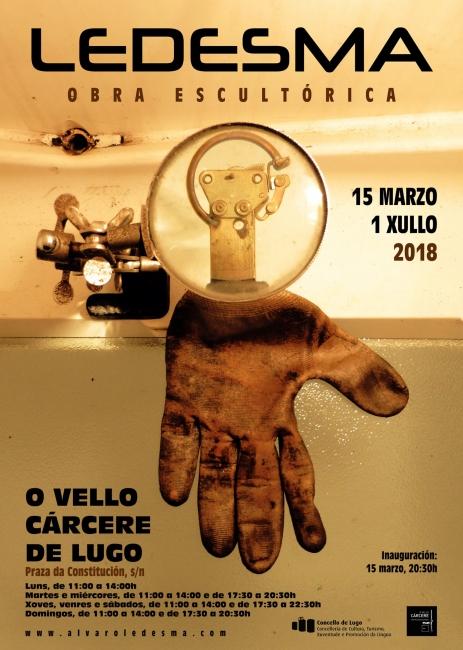 Cartel Ledesma Exposición Lugo