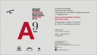 Noveno premio Auditorio de Galicia para novos artistas