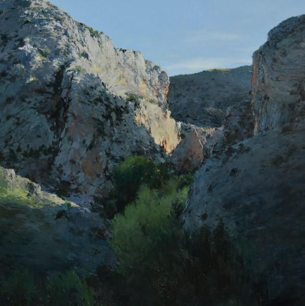 Isidoro Moreno Lopez, Albarracín. Óleo sobre lienzo. 150 x 159 cm.