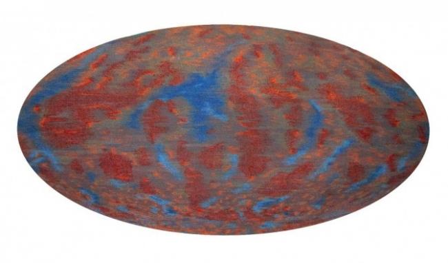 FRONTERA. Emilio Chapela. Cosmic Microwave Background / Fondo co?smico de microondas, 2013. Alfombra tejida a mano. 150 x 300 cm