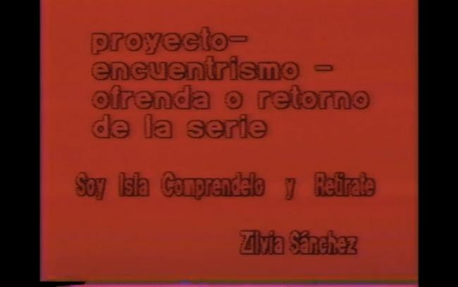 Zilia Sánchez, Soy Isla entiéndelo y retírate (2000)  – Cortesía de Fotonoviembre 2017