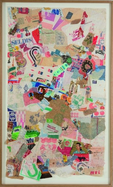 Déchets collages grillages (No. Inv. 144),1978-79. Foto: Béatrice Hatala. Cortesía de Galerie Arnaud Lefebvre