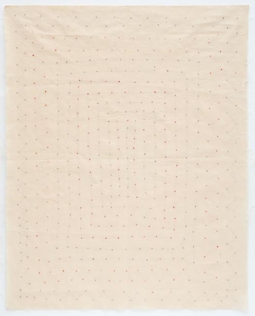 Points cousus [puntadas cosidas], 1973-76. Foto: Béatrice Hatala. Cortesía de Galerie Arnaud Lefebvre