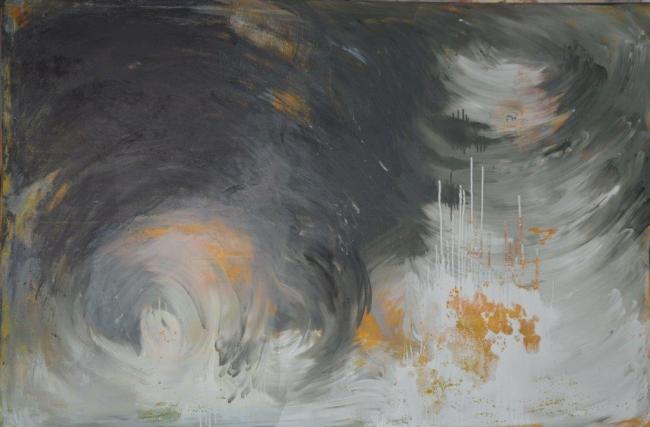 Composición tela 515. Óleo y Acrílico sobre tela. 195 x 130 cm. 2017