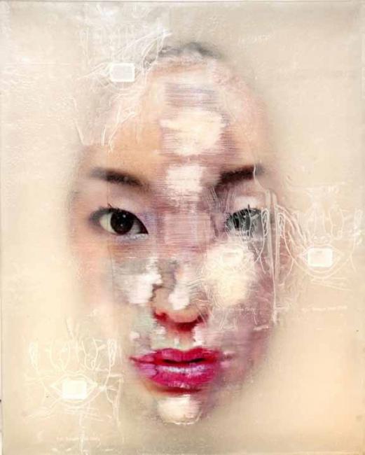 LIU GUANGYUN, Serie Surfaces, 2011. 100 x 80 x 15 cm – Cortesía de N2 Galería