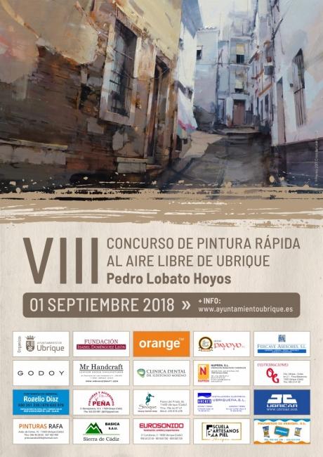 Cartel del VIII Concurso de Pintura Rápida de Ubrique