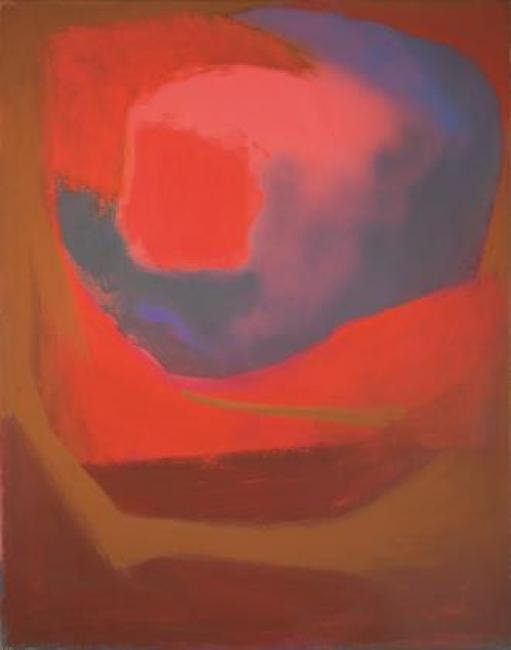 Esteban Vicente. Untitled, 1967. Óleo sobre lienzo 91,2 x 71 cm. — Cortesía del Museo de Arte Contemporáneo Esteban Vicente