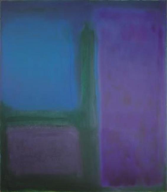 Esteban Vicente. Afternoon, 1971. Óleo sobre lienzo, 152,5 x 132,5 cm. — Cortesía del Museo de Arte Contemporáneo Esteban Vicente
