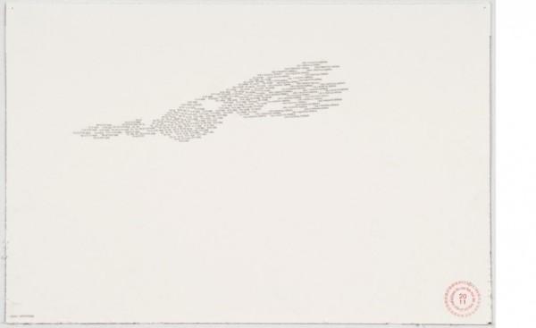 Bernardo Ortiz, Sin título, 2011, Lápiz sobre papel, 21 x 29 cm.
