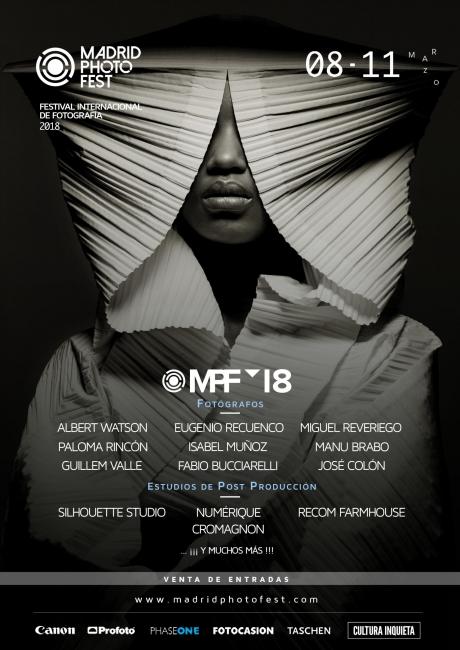Cartel del festival Madrid Photo Fest | Ir al evento: 'Madrid Photo Fest | Festival Internacional de Fotografía en Madrid'. Festival de arte de Fotografía en Madrid Photo Fest / Madrid, España