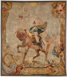 L TAPIZ DEL GENERAL SAN MARTÍN: HISTORIA DE UNA RESTAURACIÓN. OBRAS MAESTRAS DE LA MANUFACTURE DES GOBELINS DE FRANCIA. Imagen cortesía Museo Nacional de Bellas Artes