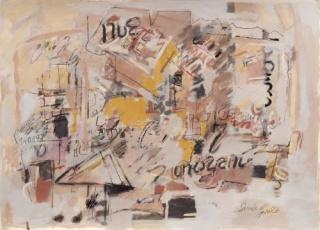 Sarah Grilo. Untitled, 1998. Mixed media on paper. 50,6 x 70 cm. Cortesía de la Galerie Lelong