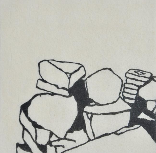 Imagem da exposição Pedra e poesia, de Elisete Alvarenga