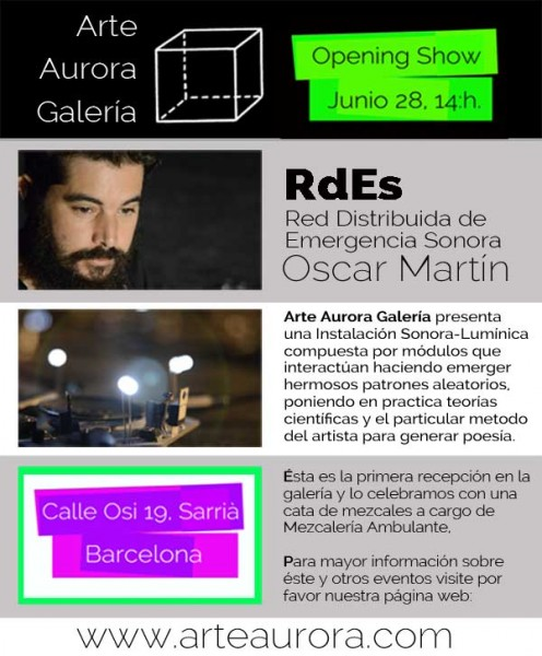 Inauguración de la Galería y Presentación de RdEs de Oscar Martín