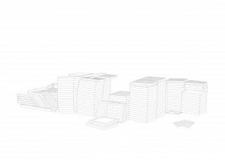 Jorge Yeregui, Dibujo de CAD sobre papel. 42 x52 cm.