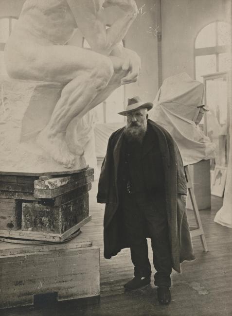 Auguste Rodin en el taller. Creative Commons – Cortesía del Museo Nacional de Escultura