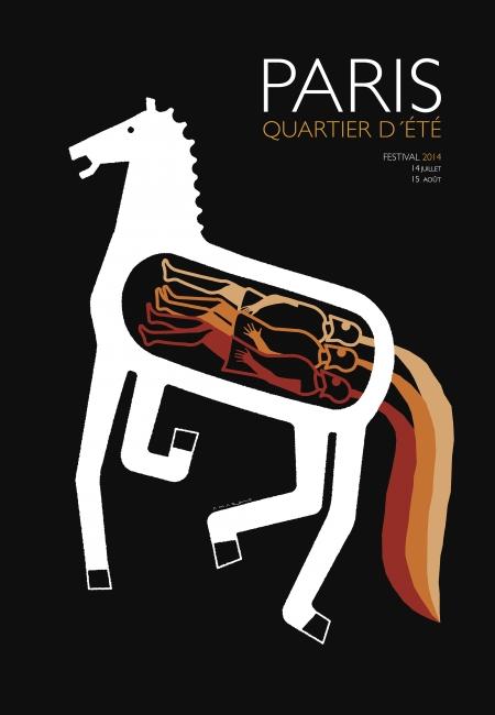 Pablo Amargo. Cartel para el festival París, Quartier d'Été, 2014 – Cortesía del Museo ABC