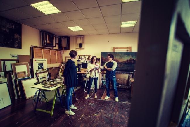 Estudio de Vicente Prego | Ir al evento: 'Cor de vasi'. Exposición de Pintura en Federica no era tonta / Santiago de Compostela, A Coruña, España