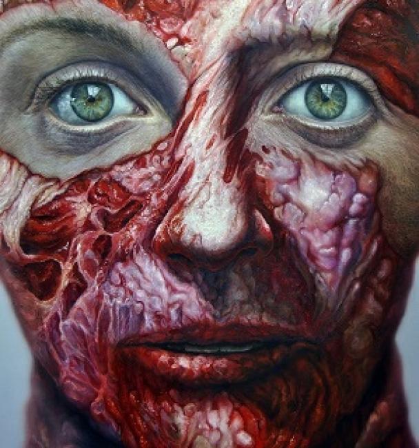 Flesh Vanitas. | Ir al evento: 'Miguel Scheroff'. Exposición de Arte urbano, Artes gráficas, Escultura, Pintura en Espacio de Arte Azur / Jaén, España
