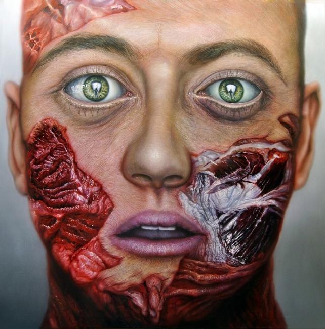 Flesh Vanitas IV | Ir al evento: 'Miguel Scheroff'. Exposición de Arte urbano, Artes gráficas, Escultura, Pintura en Espacio de Arte Azur / Jaén, España