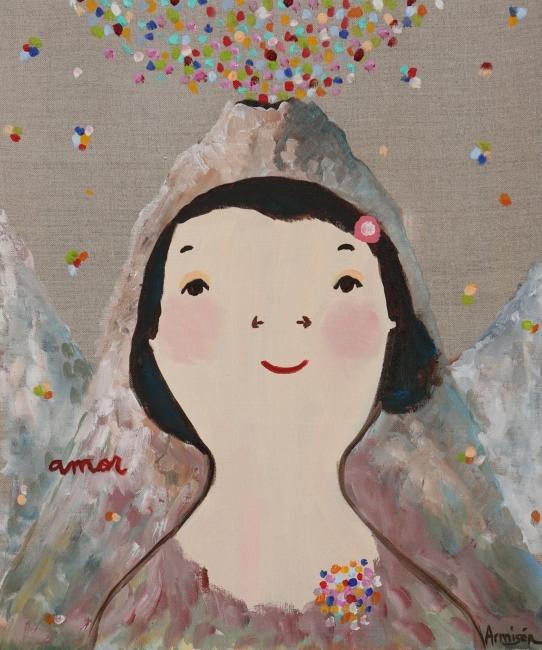Eva Armisén, Amor. Óleo sobre lienzo – Cortesía de Alba Cabrera Art Contemporani