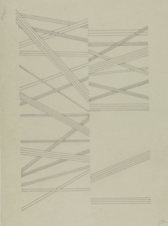 Lygia Pape, Desenho (Drawing), 1961. Ink on Japanese paper, 45 x 33 cm. © Projeto Lygia Pape. Courtesy Projeto Lygia Pape and Hauser & Wirth. Photo: Paula Pape