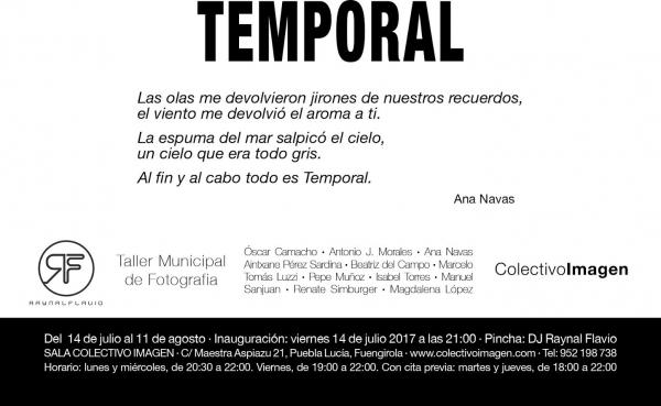 TEMPORAL | Ir al evento: 'Temporal'. Exposición de Fotografía en Colectivo Imagen / Fuengirola, Málaga, España